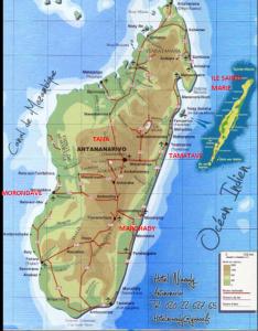 carte du projet mada