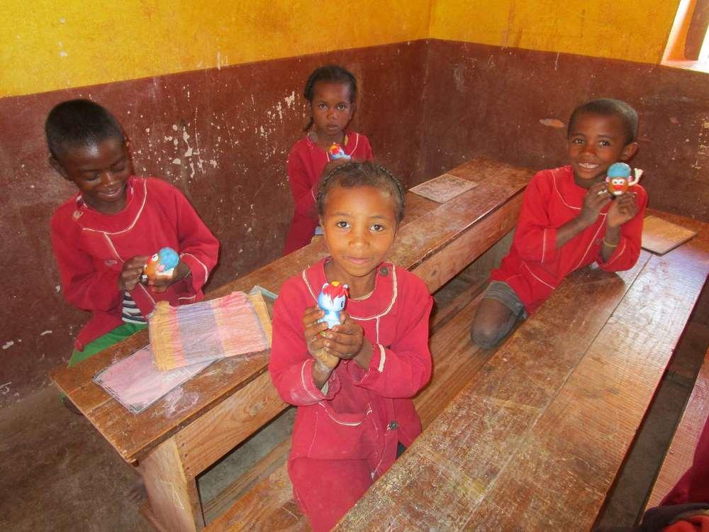 Joie des écoliers malgaches
